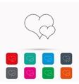Love heart icon Couple romantic sign vector image