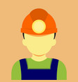 male work miner mining graphic vector image
