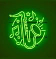 neon label music jazz banner vector image vector image