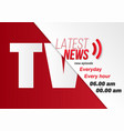 news banner template news opener broadcast design vector image