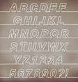 One Line Font vector image vector image