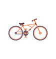 orange mountain bike modern bicycle vector image vector image