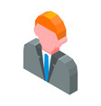 person avatar 3d icon isolated vector image vector image