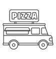 pizza truck icon outline style vector image vector image