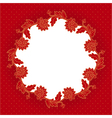 red flowers frame vector image vector image