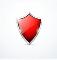 red shield icon vector image vector image
