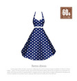 retro dress in realistic style on white background vector image vector image