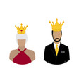 royal family queen and king in crown monarch vector image vector image