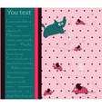 Seamless polka dot background with cat and mouse vector image vector image