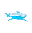 shark logo design graphic outline isolated vector image vector image