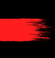 smear of red paint on a black background vector image vector image