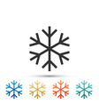 snowflake icon isolated on white background vector image vector image
