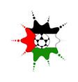 soccer ball on a jordanian emblem vector image