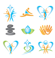 Spa massage health icons vector image vector image