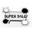 super sale advertising comic concept vector image