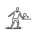 thin line icon ping pong table tennis player vector image
