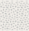 transport seamless pattern background with icons vector image vector image