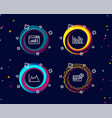 upper arrows web traffic and diagram icons vector image vector image