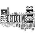 Web detective text word cloud concept vector image