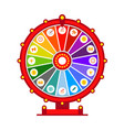 wheel of fortune infographic elements flat vector image