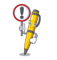 with sign pen shape that on a cartoon vector image