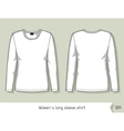 Women long sleeve shirt Template for design vector image