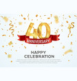 40 years anniversary banner template vector image vector image