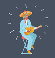 a mexican man playing guitar vector image vector image