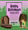 a poster on the theme of the halloween holiday a vector image vector image