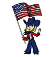 America welcomes the World vector image vector image