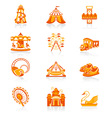 Attraction set - Juicy vector image vector image