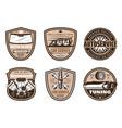 auto service retro badge car repair shop design vector image vector image