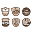 auto service retro badge of car repair shop design vector image vector image