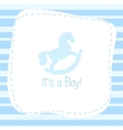 baby born congratulation card vector image