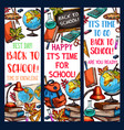 back to school learning sketch banners vector image vector image