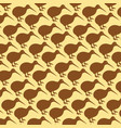 background pattern with kiwi birds vector image