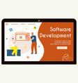 banner software development concept vector image