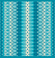 blue and white pattern for tiles and fabric vector image vector image