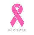 breast cancer awareness month design pink vector image
