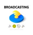 Broadcasting icon in different style vector image vector image