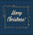 christmas card with lettering vector image