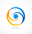 circle vision eye abstract logo vector image