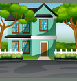 countryside family house with front yard lawn conc vector image vector image