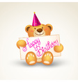 Cute teddy bear with a banner vector image vector image