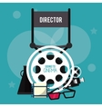 director chair movie film cinema icon vector image vector image