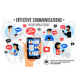 dynamic interactive electronic communication vector image vector image