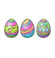 easter eggs pop art vector image