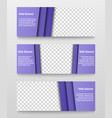 elegant web banners set vector image