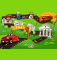 financial roadmap vector image