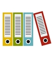 Folders icon flat style vector image vector image